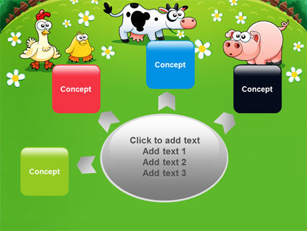 Funny Farm PowerPoint Template Slide 7