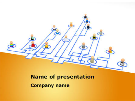 Social Hierarchy Scheme PowerPoint Template, 08287, Consulting — PoweredTemplate.com