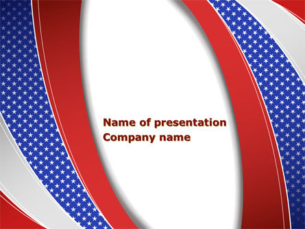 America: Elections Theme PowerPoint Template #08290
