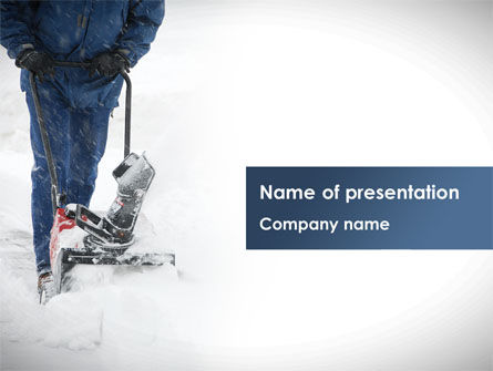 Utilities/Industrial: Snow Cleaning PowerPoint Template #08293