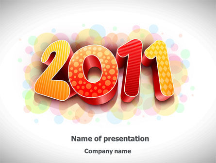 2011 PowerPoint Template, 08294, Holiday/Special Occasion — PoweredTemplate.com