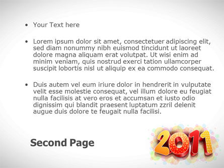 2011 PowerPoint Template Slide 2