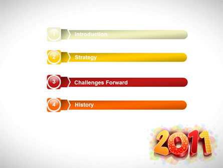 2011 PowerPoint Template, Slide 3, 08294, Holiday/Special Occasion — PoweredTemplate.com