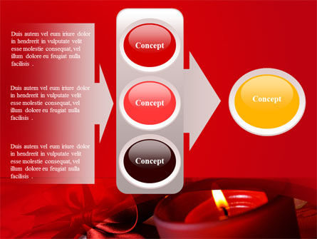 Red Christmas Candles PowerPoint Template Slide 11