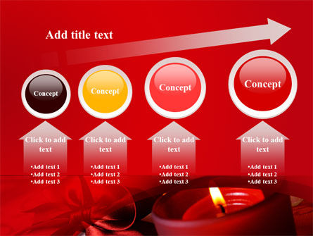 Red Christmas Candles PowerPoint Template Slide 13
