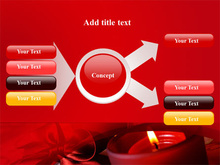 Red Christmas Candles PowerPoint Template Slide 14