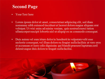 Red Christmas Candles PowerPoint Template Slide 2