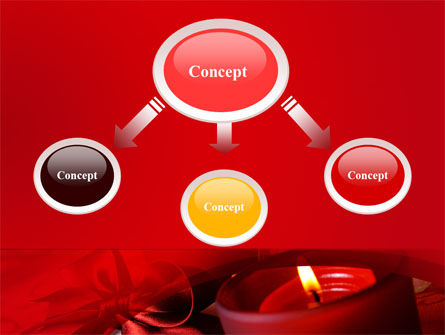 Red Christmas Candles PowerPoint Template Slide 4