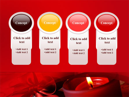 Red Christmas Candles PowerPoint Template Slide 5
