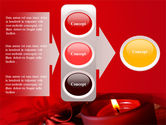 Red Christmas Candles PowerPoint Template#11