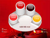Red Christmas Candles PowerPoint Template#12