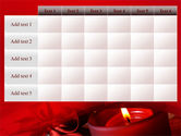 Red Christmas Candles PowerPoint Template#15