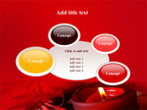 Red Christmas Candles PowerPoint Template#16