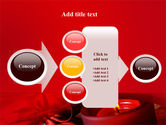 Red Christmas Candles PowerPoint Template#17