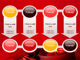 Red Christmas Candles PowerPoint Template#18