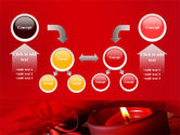 Red Christmas Candles PowerPoint Template#19