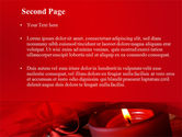 Red Christmas Candles PowerPoint Template#2