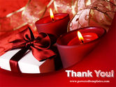 Red Christmas Candles PowerPoint Template#20