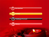 Red Christmas Candles PowerPoint Template#3