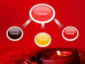 Red Christmas Candles PowerPoint Template#4