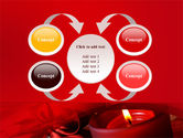 Red Christmas Candles PowerPoint Template#6