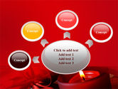 Red Christmas Candles PowerPoint Template#7