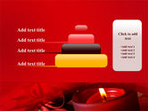 Red Christmas Candles PowerPoint Template#8