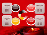 Red Christmas Candles PowerPoint Template#9