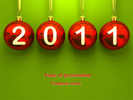 Holiday/Special Occasion: Year of 2011 PowerPoint Template #08296