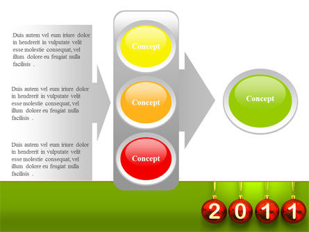 Year of 2011 PowerPoint Template Slide 11