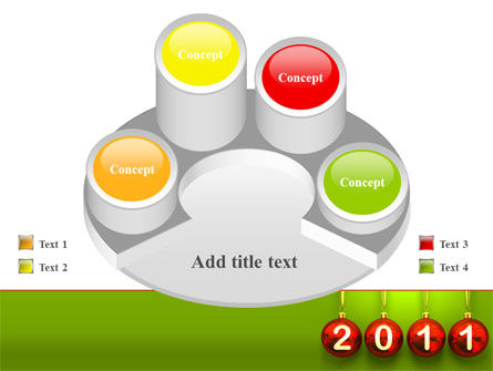 Year of 2011 PowerPoint Template Slide 12