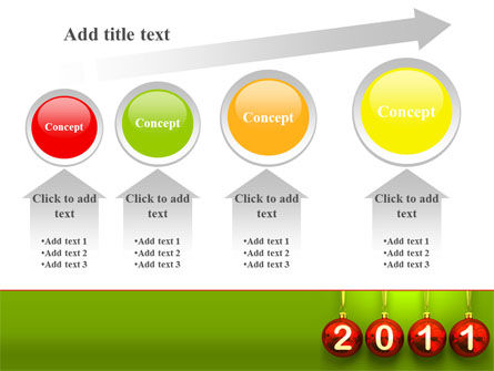 Year of 2011 PowerPoint Template Slide 13