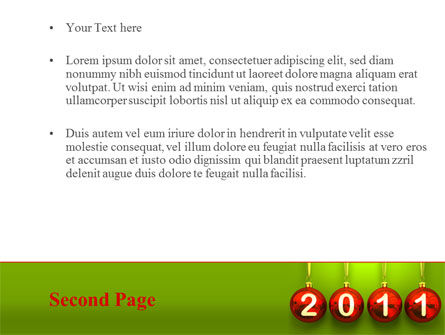 Year of 2011 PowerPoint Template Slide 2