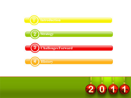 Year of 2011 PowerPoint Template Slide 3