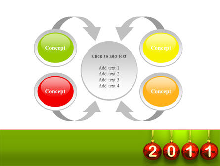 Year of 2011 PowerPoint Template Slide 6