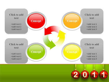 Year of 2011 PowerPoint Template Slide 9