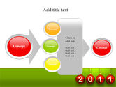 Year of 2011 PowerPoint Template#17