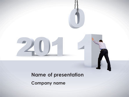 Business Year 2011 PowerPoint Template, 08297, Holiday/Special Occasion — PoweredTemplate.com