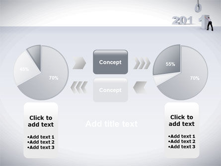 Business Year 2011 PowerPoint Template Slide 11