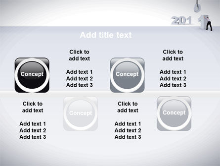Business Year 2011 PowerPoint Template Slide 19