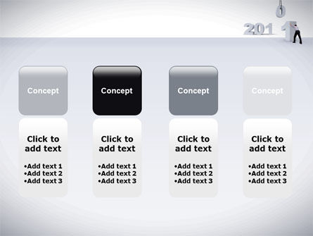 Business Year 2011 PowerPoint Template Slide 5