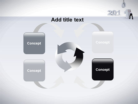 Business Year 2011 PowerPoint Template Slide 6
