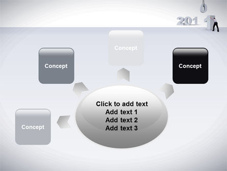 Business Year 2011 PowerPoint Template Slide 7