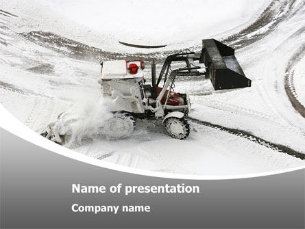 Careers/Industry: Snow Cleaning Machine Free PowerPoint Template #08299