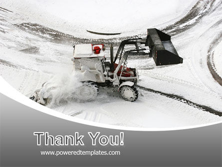 Free Snow Cleaning Machine PowerPoint Template Slide 20