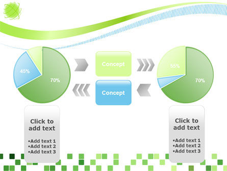 Green Mosaic PowerPoint Template Slide 11