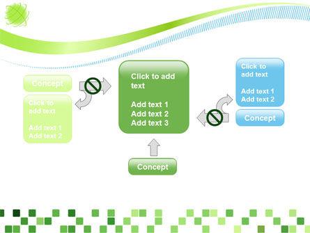 Green Mosaic PowerPoint Template Slide 13