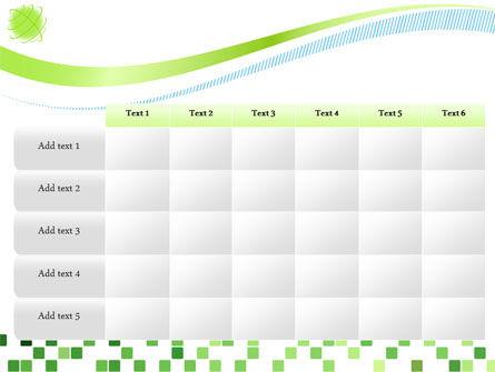 Green Mosaic PowerPoint Template Slide 15