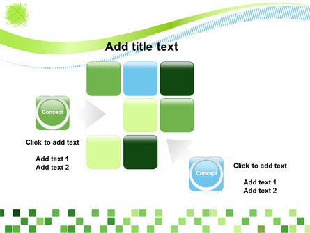 Green Mosaic PowerPoint Template Slide 16