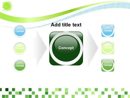 Green Mosaic PowerPoint Template Slide 17